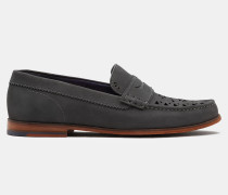 Loafer Aus Nubukleder Mit Cut-outs