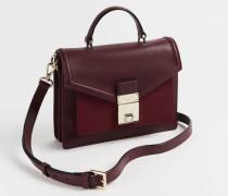 Leather Luggage Lock Mini Satchel Bag