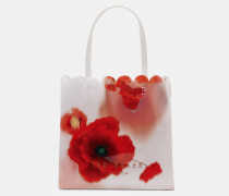 Großer Shopper Mit Playful Poppy-print