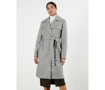Mantel aus Wolle mit Taillengürtel