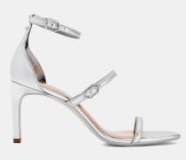 Metallische Sandalen mit Drei Riemen