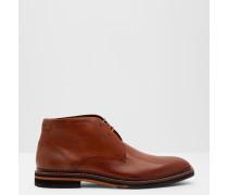 Derby-Stiefel aus Leder