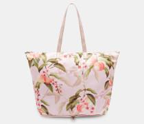 Faltbarer Shopper Mit Peach Blossom-print