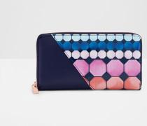 Matinee-Portemonnaie aus Leder mit Marina Mosaic-Print