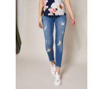 Skinny-jeans Mit Destroyed-details