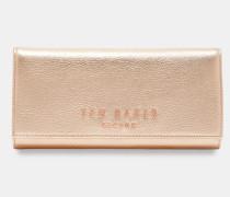 Leder-portemonnaie Mit Statement-schriftzug