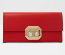 Portemonnaie mit Perle und Kristall