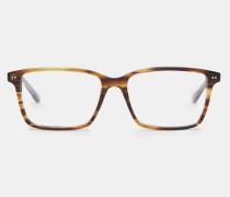 Viereckige Brille