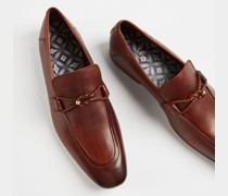Leather Penny Loafer Shoes