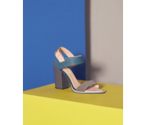Sandalen in Blockfarben