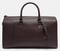 Leder-Reisetasche mit Kreuzschraffur
