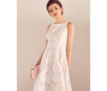Ärmelloses Kleid mit Ausbrennermuster