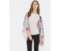 Seidenschal mit Illuminated Bloom-Print