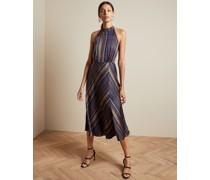 Kariertes Neckholder-Kleid