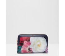 Kleine Kosmetiktasche mit Blushing Bouquet-Print