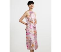 Rhubarb Halterneck Midi Dress