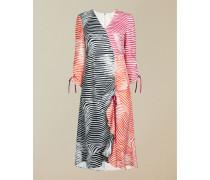 Zebra Print Ruche Detail Dress