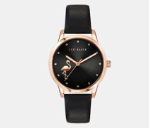 Fitzrovia Flamingo Leather Strap Watch