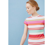 Tailliertes T-Shirt mit Pier Stripe-Print