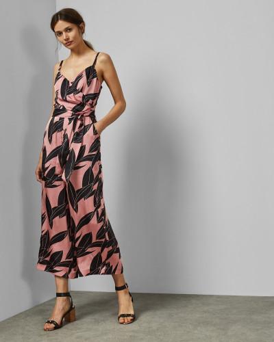 Wickel-Jumpsuit mit Sour-Cherry-Print