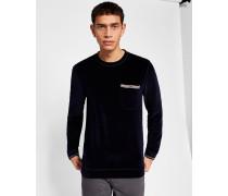 Baumwoll-sweatshirt Mit Taschendetail