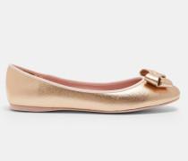 Flache Ballerinas Mit Schleifen-detail