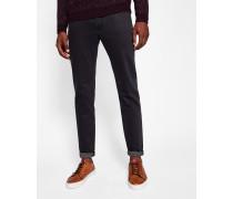 Straight-Fit Jeans mit bedrucktem Saum