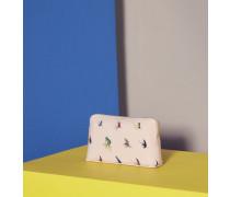 Kleine Kosmetiktasche mit Fly Fish-Print