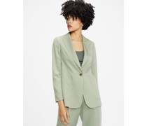 Relaxed Fit Blazer With Patch Pockets