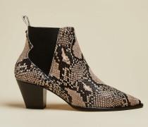 Western-Stiefel aus Leder mit Schlangenprägung