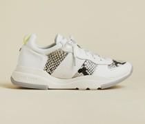 Sneakers aus Leder mit Hoher Sohle
