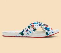 Sandale mit Paint Splash-Print