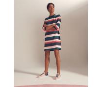 Gestreiftes Kleid in Blockfarben