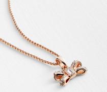 Crystal Sparkle Bow Pendant