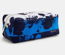 Kleine Make-Up-Tasche mit Bluebell-Print