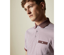 Cotton Geo Print Polo Shirt