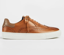 Leather Brogue Trainers