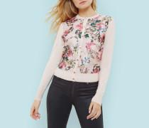 Cardigan mit Blossom Jacquard-Print