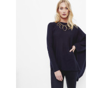 Asymmetrisch Fallender Pullover Aus Wolle-seiden-gemisch