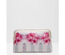 Kosmetiktasche mit Window Box-Print