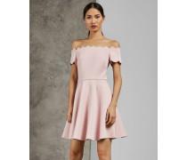 Skater-Kleid mit Wellenborte und Bardot-Ausschnitt