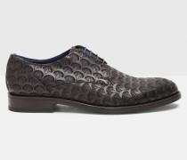 Derby-Schuhe aus geprägtem Leder