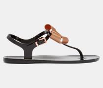 Gummi-sandalen Mit Schleifen-detail