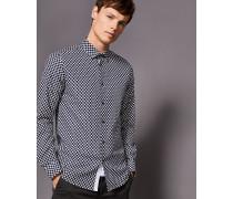 Baumwollhemd mit Circle Dot-Print