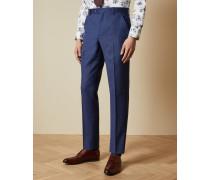 Anzughose aus Wolle mit Birdseye-Print