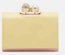 Kleines Lederportemonnaie Mit Perlenkugel