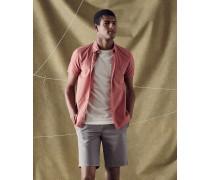Stückgefärbtes Baumwollhemd
