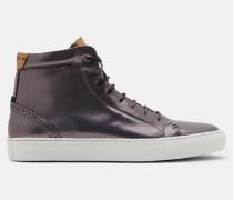Hi-Top-Sneakers mit Broguedetail