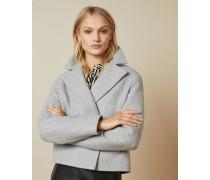 Kastenförmiger Mantel aus Wolle