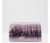 Große Kosmetiktasche mit Sparkling Swan-Print